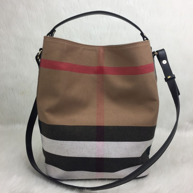 BURBERRY HOBO CANVAS SİYAH