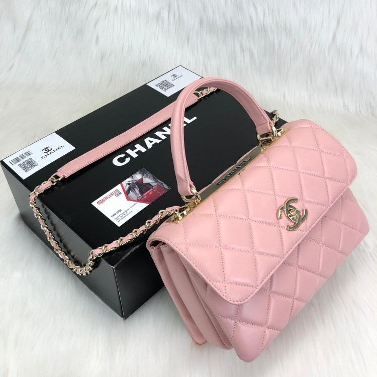 CHANEL TRENDY COCO FLAP PUDRA PEMBESİ