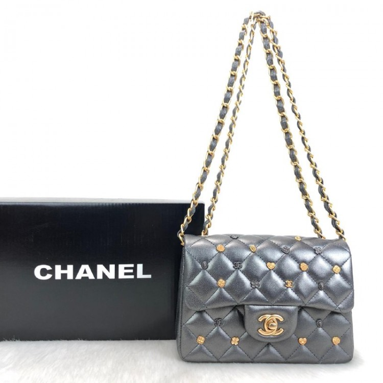 CHANEL FLAP LUCKY CHARMS 1,55 MİNİ SİLVER