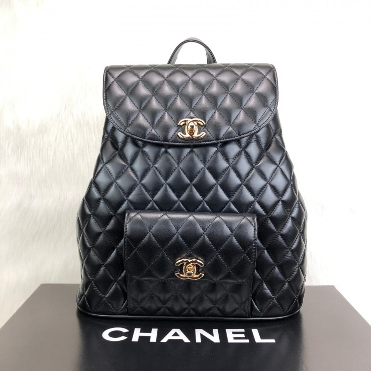 CHANEL VİNTAGE BACKPACK CAPİTONE ALTİN