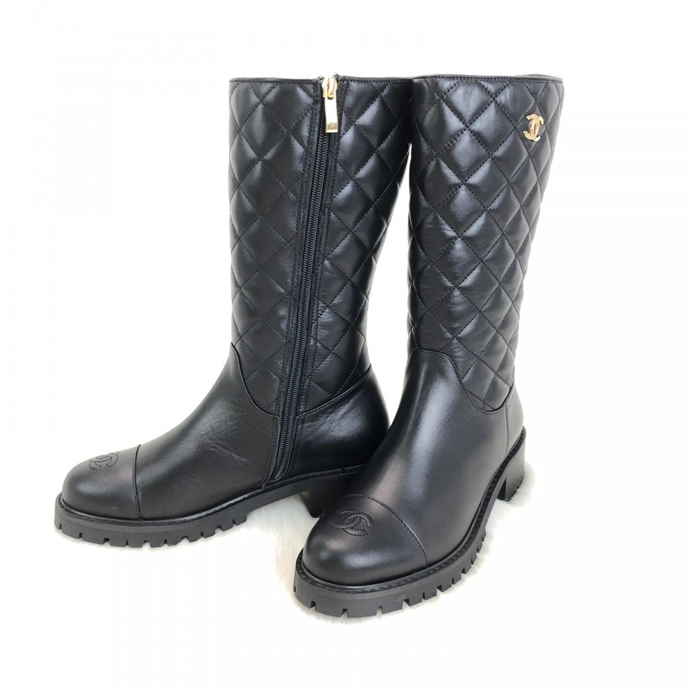Chanel Quilted Lambskin Boots Limited