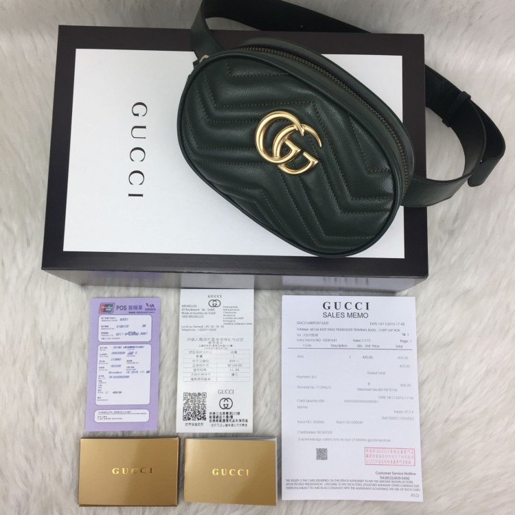 GUCCİ BELT BAG HAKİKİ DERİ YESİL