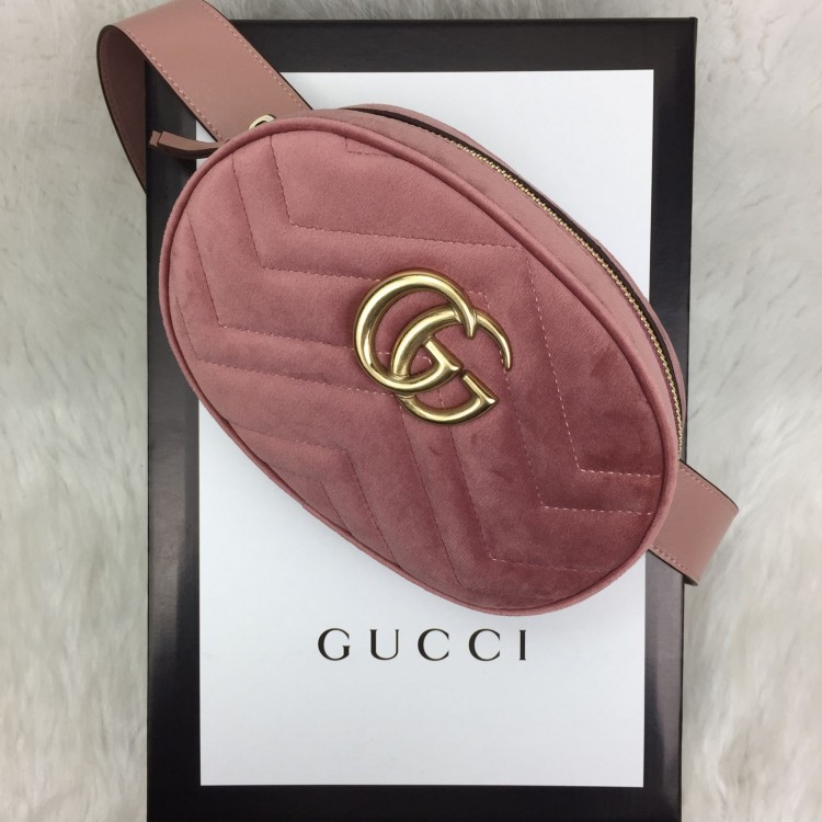 GUCCİ BELT BAG KADİFE PUDRA