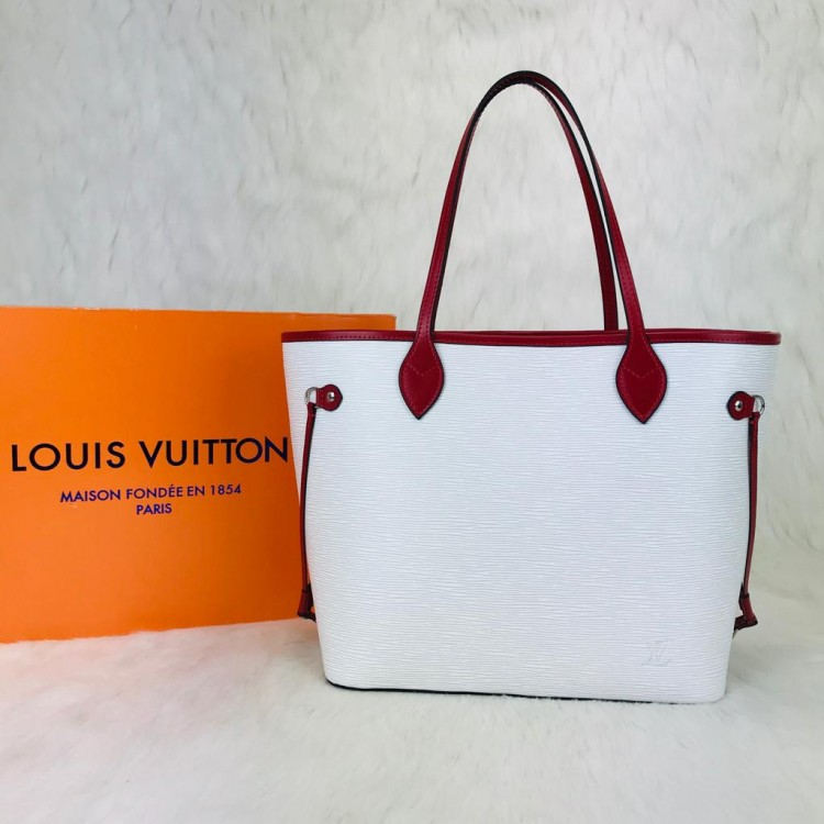 LOUİS VUİTTON EPİ NEVERFULL BEYAZ KIRMIZI