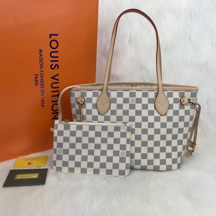 LOUİS VUİTTON NEVERFULL PM DAMİER AZUR
