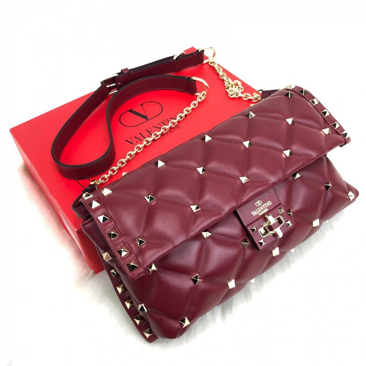 VALENTİNO GARAVANİ CADYSTUD CROSS BODY BORDO