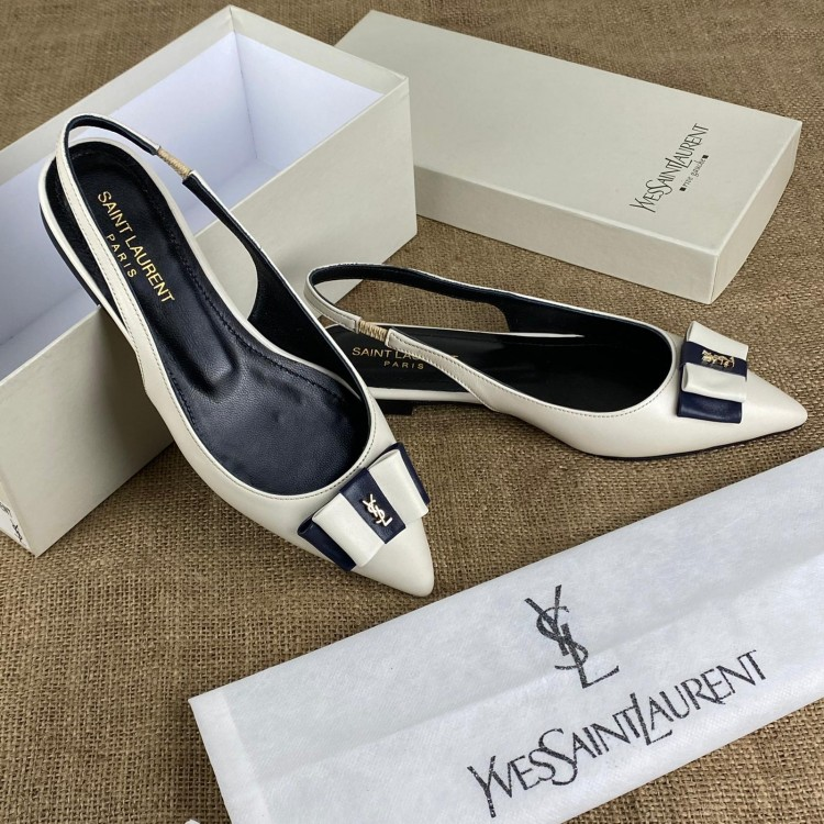 YVES SAİNT LAURENT ANAİS BOW SANDALS KIRIK BEYAZ